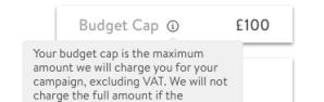 Budget-Tooltip